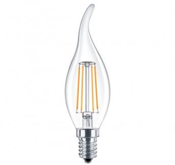 Фото1 SLL E14-C35TA-5W - LED лампа филамент, 5W, тип С35TA, цоколь E14, свеча на ветру