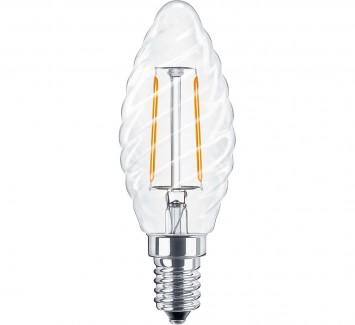 Фото1 SLL E14-C35TW-2W - LED лампа филамент, 2W, тип С35TW, цоколь E14, свеча фигурная