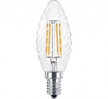 Фото1 SLL E14-C35TW-3.6W - LED лампа филамент, 3.6W, тип С35TW, цоколь E14, свеча фигурная