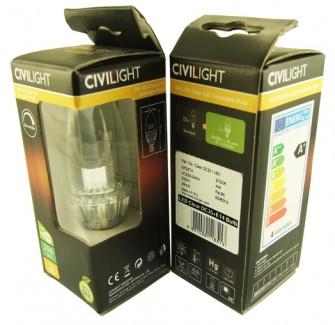 Фото2 LED лампа CIVILIGHT C35 E14-4W Cristall Crown