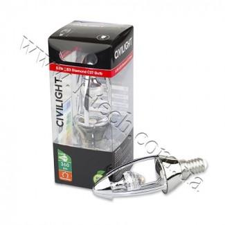 Фото3 CIVILIGHT CV E14-5.5W Diamond Silver candle (warm white)