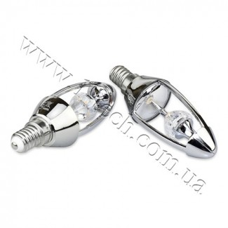 Фото2 CIVILIGHT CV E14-5.5W Diamond Silver candle (warm white)