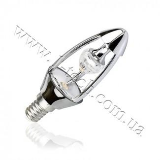 Фото1 CIVILIGHT CV E14-5.5W Diamond Silver candle (warm white)