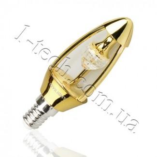 Фото1 LED лампа CIVILIGHT CV E14-5.5W Diamond Gold candle