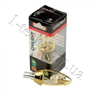 Фото2 LED лампа CIVILIGHT CV E14-5.5W Diamond Gold candle