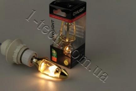 Фото3 LED лампа CIVILIGHT CV E14-5.5W Diamond Gold candle