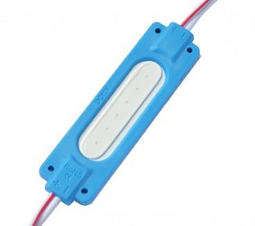 Фото1 # 095/3 МТК-COB-1Led-B-2W - LED модуль COB с линзой, 12V, 2W, синий, IP65