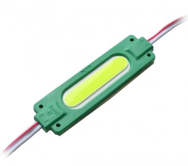 Фото1 # 095/5 МТК-COB-1Led-G-2W - LED модуль COB с линзой, 12V, 2W, зеленый, IP65