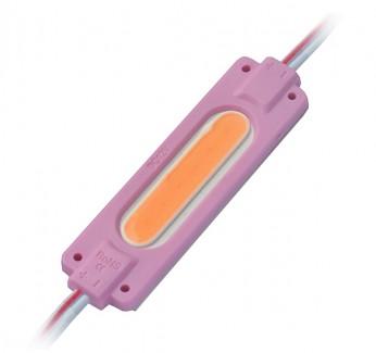 Фото1 # 095/7 МТК-COB-1Led-P-2W - LED модуль COB с линзой, 12V, 2W, розовый, IP65