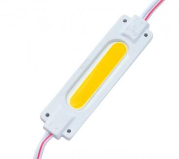 Фото1 # 095/2 МТК-COB-1Led-WW-2W - LED модуль COB с линзой, 12V, 2W, Белый теплый, IP65