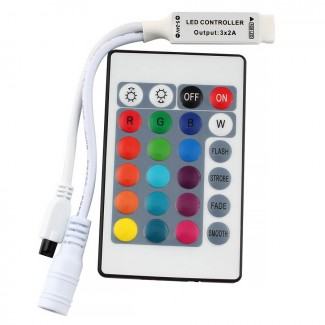 Фото1 LT-CTR21/1 - RGB mini контроллер, 6А + ИК пульт 24 кнопки