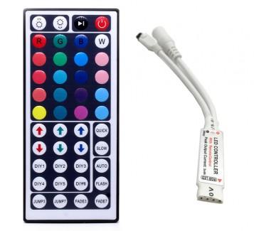 Фото1 LT-CTR22/1 - RGB mini контроллер, 6А + ИК пульт 44 кнопки