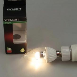 Фото2 CIVILIGHT CV E14-4W Cristall candle (warm white)