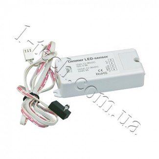 Фото1 Dimmer LED-sensor Cенсорный диммер реагирующий на касание, 12-36VDC, 8A