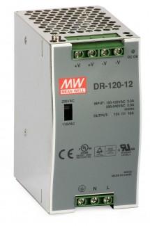 Фото1 DR-120-12 - Блок питания для монтажа на DIN-рейку, 12В, 120 Ватт, 10 А