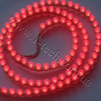 Фото1 DWF-R - Красная LED лента бокового свечения, 96 диодов, 625 нм, IP67