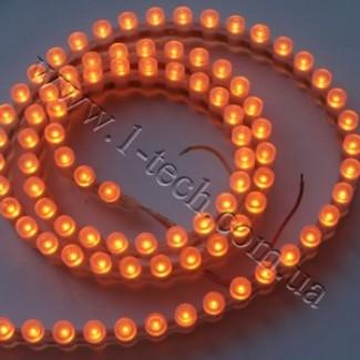 Фото1 DWF-Y - Жёлтая LED лента бокового свечения, 96 диодов, 590 нм, IP67