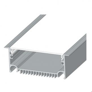 Фото1 Профиль алюминиевый №20 для светодиодных лент встраиваемый 85х33мм (комплект)