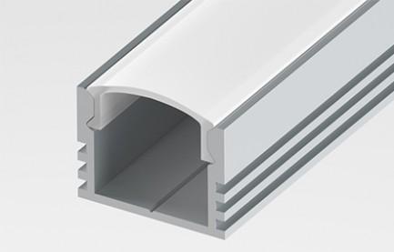Фото1 LED-профиль ЛП-12 - для лент П-образный, вн.ширина 12,3 мм, размеры 12*16*2000 мм (стекло-рассеивате