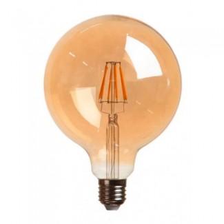 Фото3 SLL E27-G125-7.5W - LED лампа филамент, 7.5W, тип G125, цоколь E27, круглая шарообразная