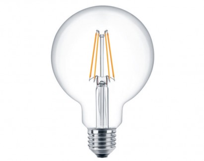 Фото1 SLL E27-G125-5W - LED лампа филамент, 5W, тип G125, цоколь E27, круглая шарообразная
