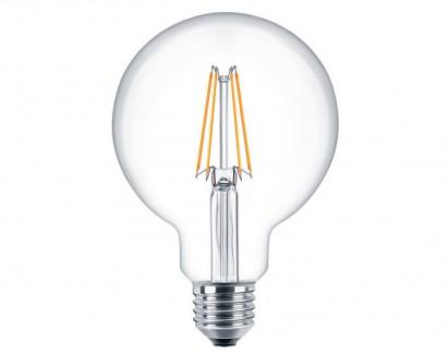 Фото1 SLL E27-G80-6W - LED лампа филамент, 6W, тип G80, цоколь E27, круглая шарообразная