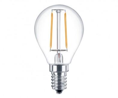 Фото1 SLL E14-G45-2W - LED лампа филамент, 2W, тип G45, цоколь E14, круглая