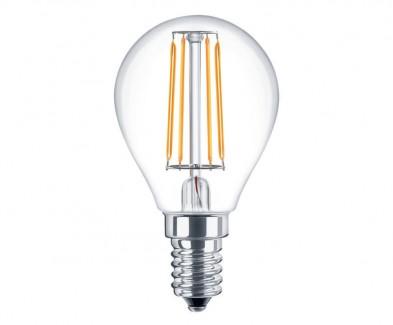 Фото1 SLL E14-G45-4W - LED лампа филамент, 4W, тип G45, цоколь E14, круглая