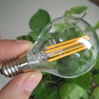 Фото6 SLL E14-G45-4W - LED лампа филамент, 4W, тип G45, цоколь E14, круглая