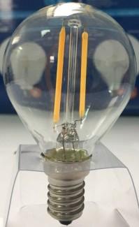 Фото2 SLL E14-G45-2W - LED лампа филамент, 2W, тип G45, цоколь E14, круглая