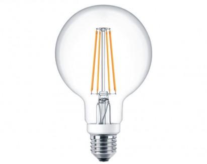 Фото1 SLL E27-G90-5W - LED лампа филамент, 5W, тип G95, цоколь E27, круглая шарообразная