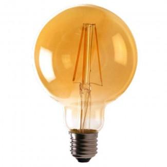 Фото3 SLL E27-G80-8.5W - LED лампа филамент, 8.5W, тип G80, цоколь E27, круглая шарообразная