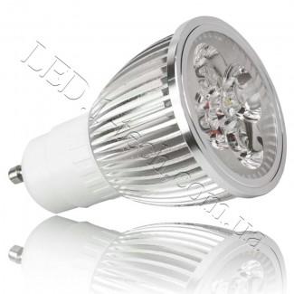 Фото1 LED ламп GU10-4х1W (white)