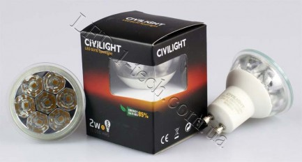 Фото2 LED лампа CIVILIGHT GU10-CV-7SMD-2W