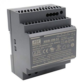 Фото2 HDR-100-24N - Блок питания на DIN-рейку, 24V, 100 Вт, 2.5А