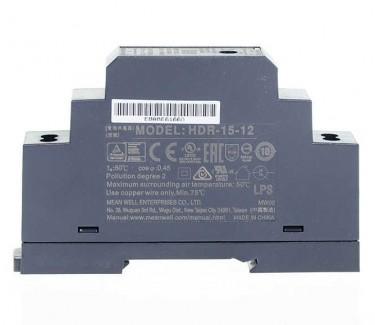 Фото3 HDR-15-12 - Блок питания на DIN-рейку, 12V, 15 Вт, 1.25А