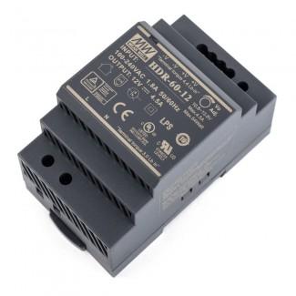 Фото2 HDR-60-12 - Блок питания на DIN-рейку, 12V, 60 Вт, 4.5А
