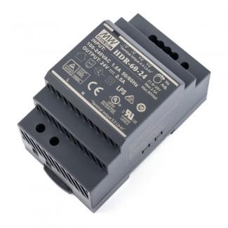 Фото2 HDR-60-24 - Блок питания на DIN-рейку, 24V, 60 Вт, 2.5А
