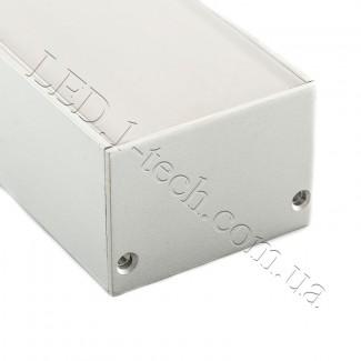 Фото4 Профиль алюминиевый №23 для светодиодных лент накладной 50х35мм (комплект)