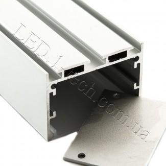 Фото3 Профиль алюминиевый №23 для светодиодных лент накладной 50х35мм (комплект)