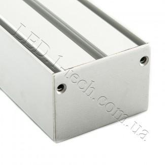 Фото5 Профиль алюминиевый №23 для светодиодных лент накладной 50х35мм (комплект)