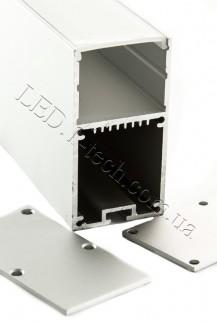 Фото1 Профиль алюминиевый №26 для светодиодных лент накладной 35х66мм (комплект)