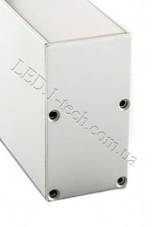 Фото2 Профиль алюминиевый №26 для светодиодных лент накладной 35х66мм (комплект)