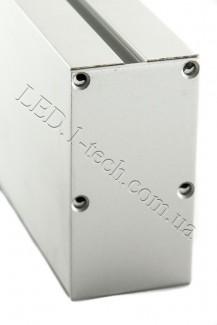 Фото4 Профиль алюминиевый №26 для светодиодных лент накладной 35х66мм (комплект)