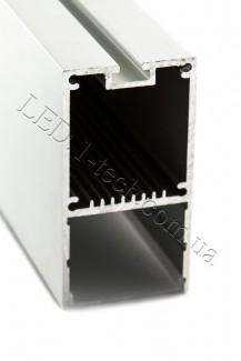 Фото3 Профиль алюминиевый №26 для светодиодных лент накладной 35х66мм (комплект)