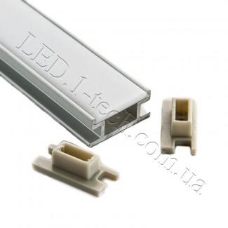 Фото1 Профиль алюминиевый для светодиодных лент №4Е встраиваемый в пол 19х8мм (комплект)