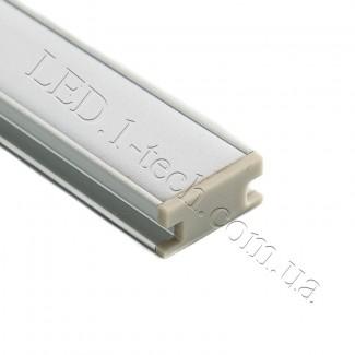 Фото2 Профиль алюминиевый для светодиодных лент №4Е встраиваемый в пол 19х8мм (комплект)