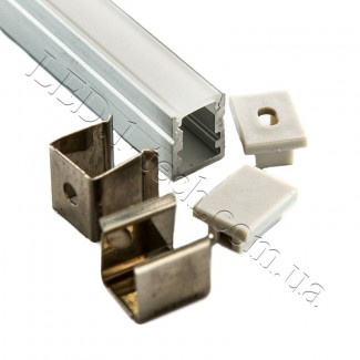 Фото6 Профиль алюминиевый №22 для светодиодных лент накладной 13х10мм (комплект)
