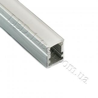 Фото1 Профиль алюминиевый №22 для светодиодных лент накладной 13х10мм (комплект)