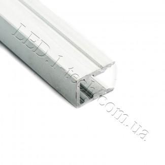 Фото2 Профиль алюминиевый №22 для светодиодных лент накладной 13х10мм (комплект)